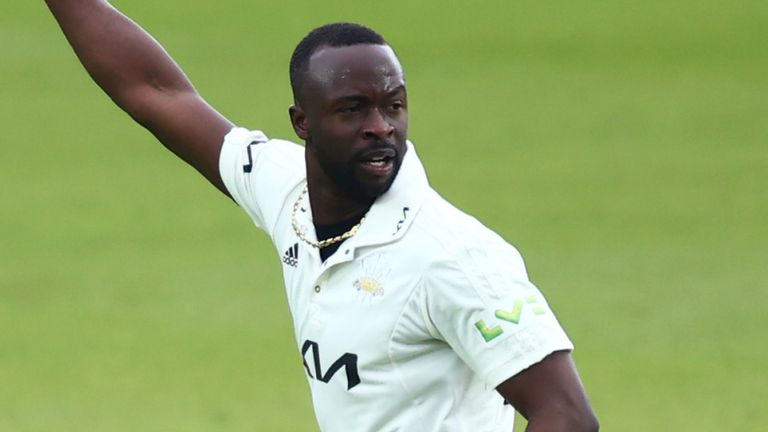 Kemar Roach took four wickets, including three of Middlesex's top four
