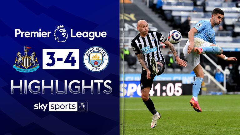 FREE TO WATCH: Highlights from Manchester City's win over Newcastle in the Premier League