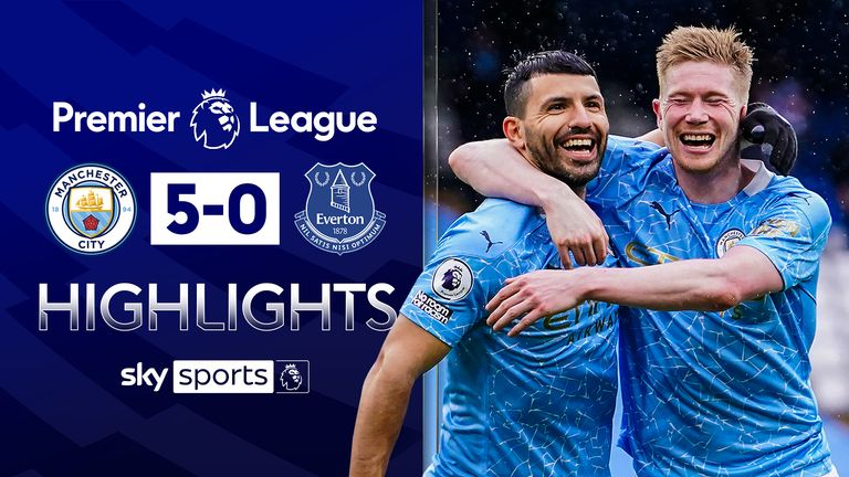 FREE TO WATCH: Highlights from Manchester City's win over Everton in the Premier League