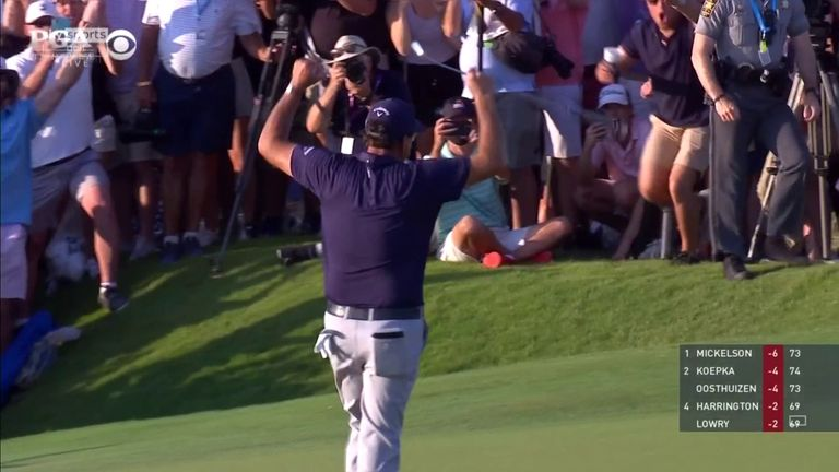 Relive the moment Mickelson entered golf's record books by becoming the oldest major winner in history with a two-shot victory at the PGA Championship
