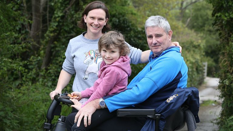 Alan Igglesden, his wife Liz and daughter Beth completed the Professional Cricketers' Trust's 5k May challenge (pic credit:   Professional Cricketers' Trust)