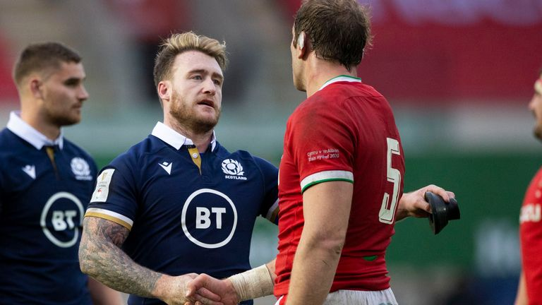 Will Stuart Hogg or Alun Wyn Jones captain the Lions in South Africa?