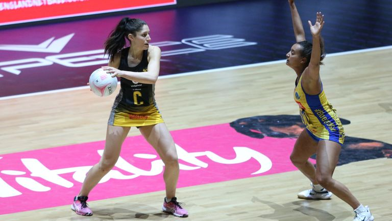Amy Flanagan is excelling in Wasps' mid-court and leading by example  (Image Credit - Morgan Harlow)