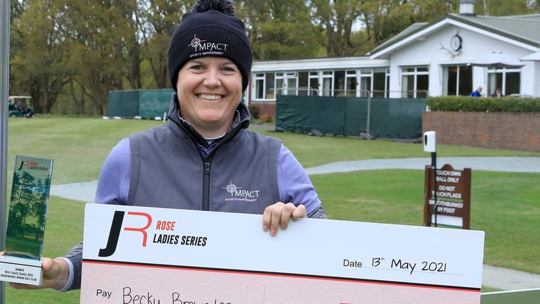 Becky Brewerton secured the £10,000 first prize for her play-off victory at Brokenhurst Manor