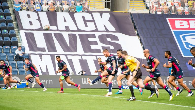 Super League showed support for the Black Lives Matter movement last year