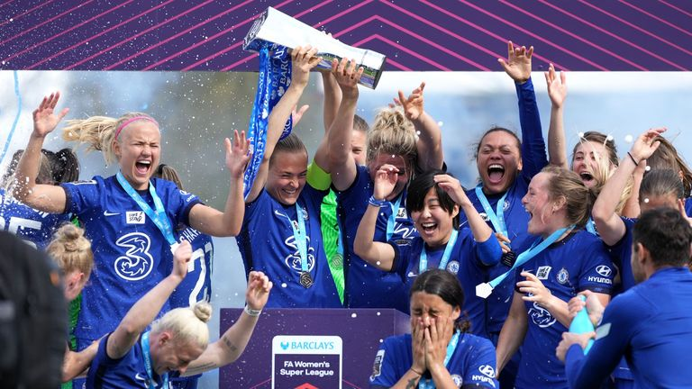 Chelsea won the FA Women's Super League in May 2021 as the pandemic restrictions were lifted