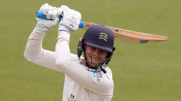 Nick Gubbins' knock of 124 almost set up an unlikely Middlesex victory against Surrey before honours finished even at The Kia Oval