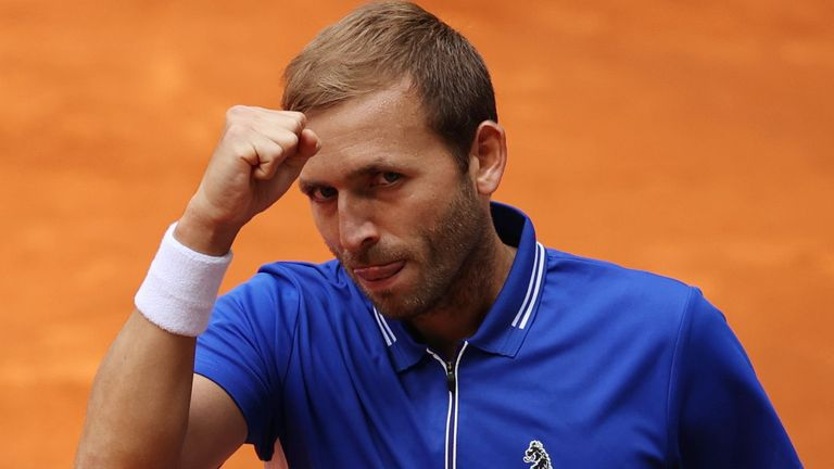 Dan Evans made it a hat-trick of wins over Jeremy Chardy after coming through at La Caja Magica in Madrid