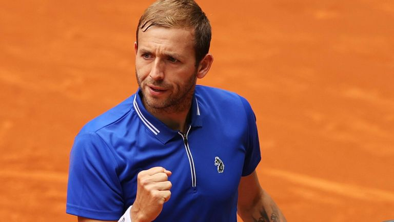 Dan Evans continued his progress on clay at the Madrid Open