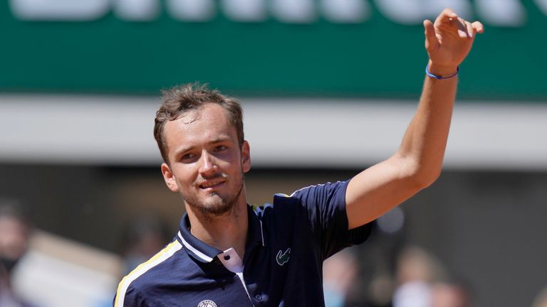 Medvedev was bidding to avoid a fifth successive opening round exit in Paris