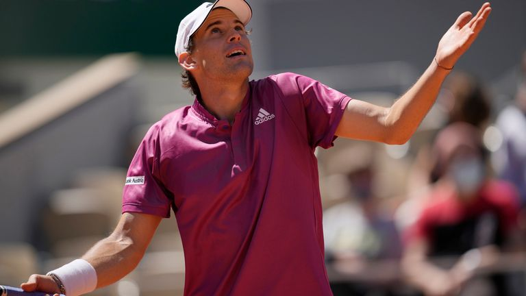 Dominic Thiem suffered a shock early exit to Spain's Pablo Andujar
