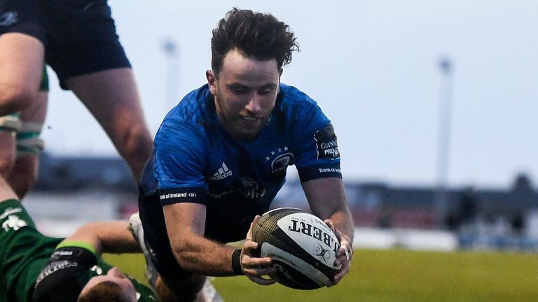 Hugo Keenan scored a hat-trick as Leinster destroyed Connacht in Saturday's PRO14 Rainbow Cup