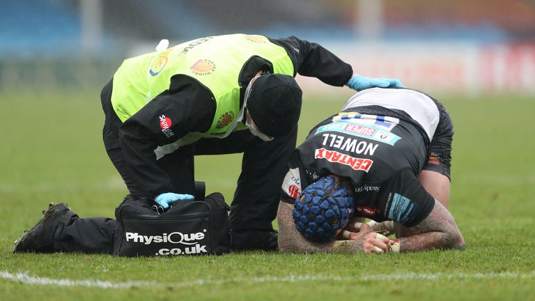Jack Nowell: Exeter winger sidelined by knee injury and could miss the rest of the season |  Rugby news
