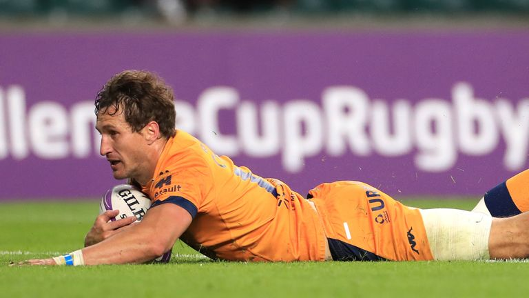 Johan Goosen - named man of the match - scored the decisive try in the final for Montpellier just before the hour mark