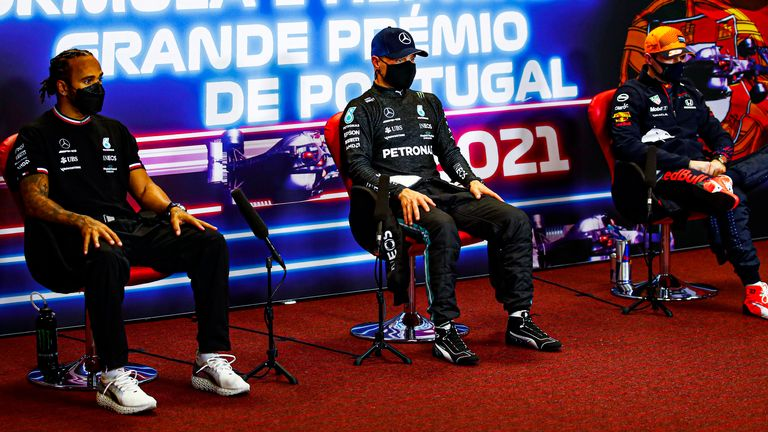 Portuguese GP: Nico Rosberg at the start of the F1 title fight between Lewis Hamilton and Max Verstappen