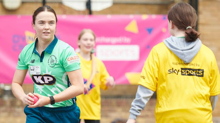 England bowler Mady Villiers says it's important to break the stigma attached to cricket, as she attended the launch of Dynamos Cricket Intros, a new initiative encouraging more children to play regardless of gender, ability, or background.