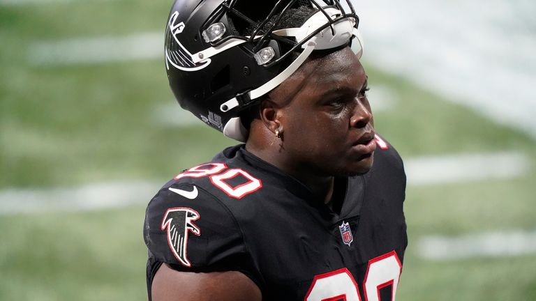 Marlon Davidson was limited by injury in his rookie campaign. (AP Photo/Brynn Anderson)