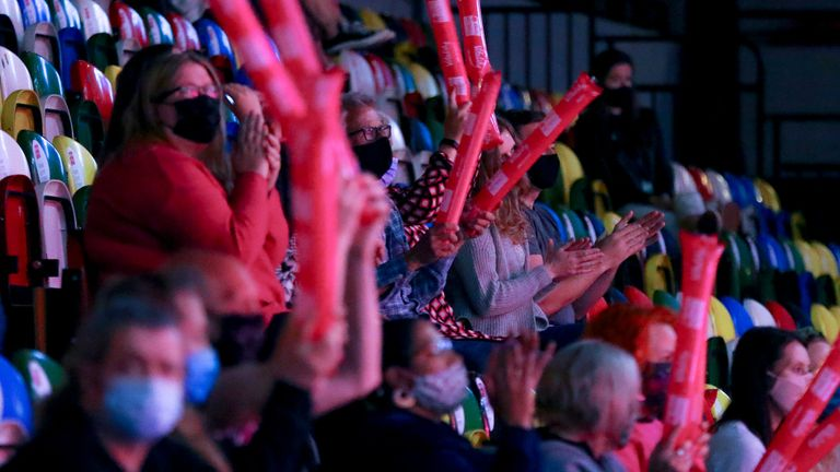 Fans returned to the Copper Box Arena for the first time since early last year (Image Credit - Ben Lumley)