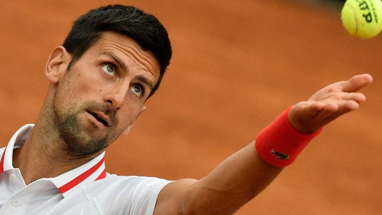 Novak Djokovic admitted he lost his cool as rain in Rome held up his second-round match against Taylor Fritz