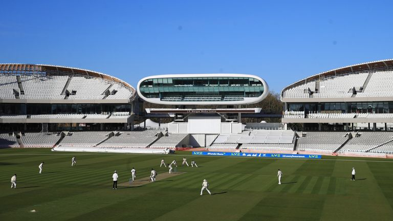 Thursday's County Championship match between Middlesex and Gloucestershire at Lord's will be shown on Sky Sports