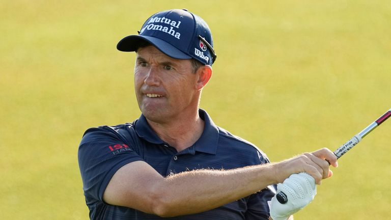 Padraig Harrington double-bogeyed his final hole on Saturday to card a third-round 73