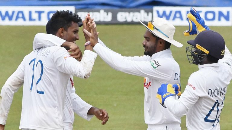Praveen Jayawickrama is the fifth Sri Lanka bowler to take a five-wicket haul on Test debut