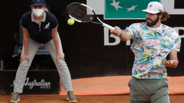 Opelka - 6 feet 11 inches tall - will play Nadal for the first time
