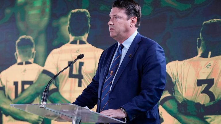Rugby Australia chairman Hamish McLennan says hosting a Rugby World Cup is a once-in-a-generation opportunity