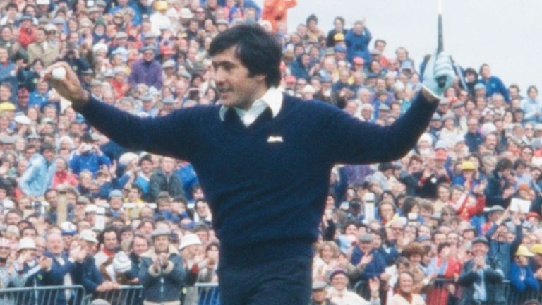 Ballesteros won the first of five major titles during The 108th Open in 1979, held at Royal Lytham & St Annes Golf Club