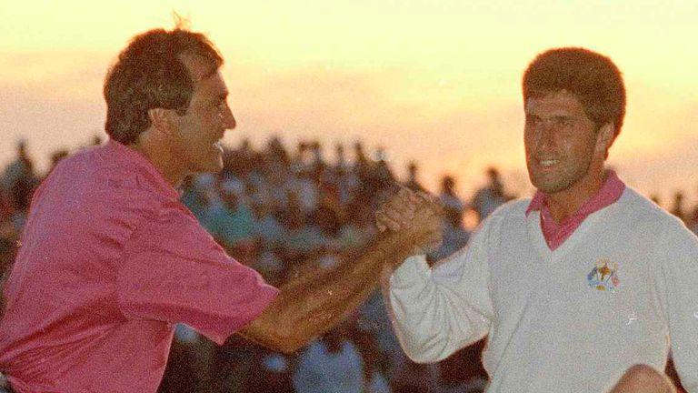 Spanish Ryder Cup legends Seve Ballesteros and Jose Maria Olazabal