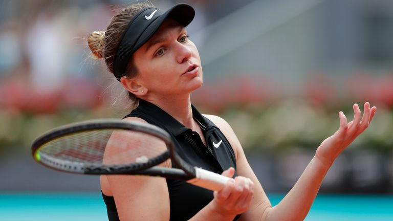 Simona Halep suffered a third-round defeat to Elise Mertens at the Madrid Open