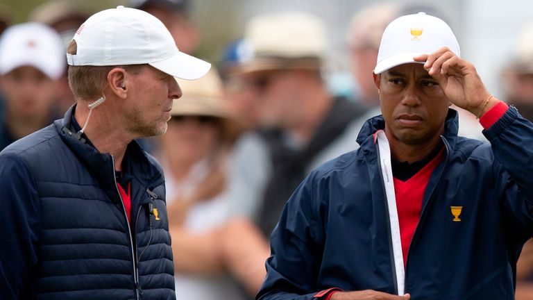 Stricker (left) has been a vice-captain for the US at the past three Ryder Cups