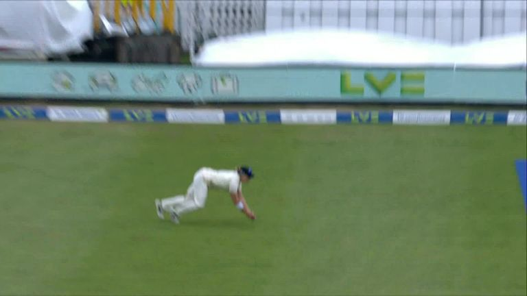 Katherine Brunt produces a spectacular catch at long-on to send India's Shafali Verma walking on 63