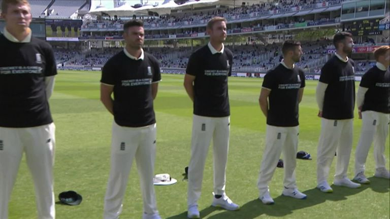 England and New Zealand share a moment of unity ahead of the first Test at Lord's