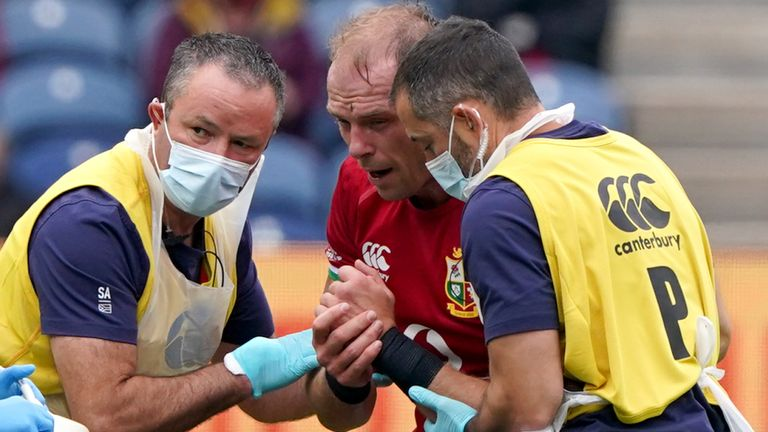 Original British and Irish Lions captain Alun Wyn Jones had to withdraw from the tour before the plane to South Africa took off due to a dislocated shoulder