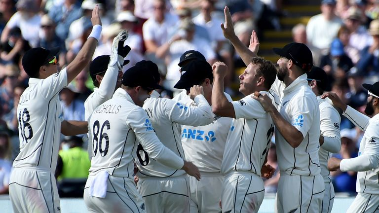 New Zealand tore through England's batting line-up to move to the brink of a series win