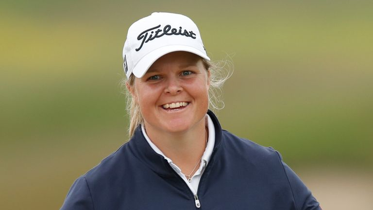 Caroline Hedwall leads by one after her second-round 64