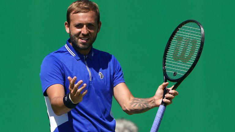 Dan Evans est actuellement en action dans l'événement ATP Challenger à Nottingham, où il est venu après sa sortie au premier tour à Roland-Garros la semaine dernière