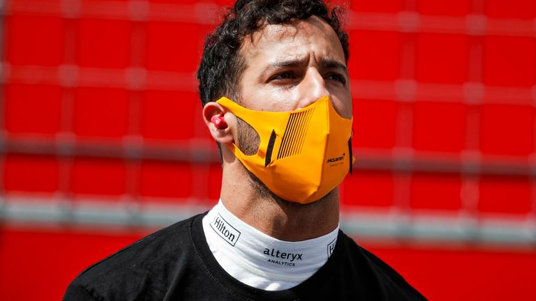 McLaren's Daniel Ricciardo has described the cancellation as a 'huge disappointment' but says he understands the decision