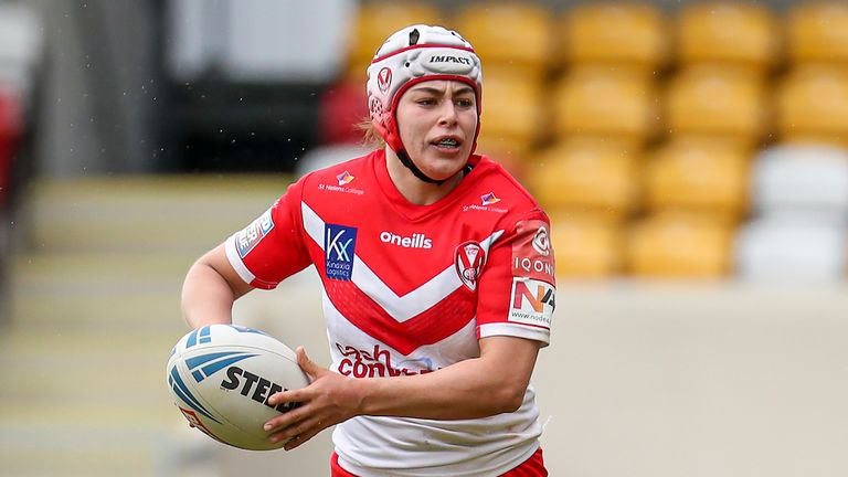 St Helens' Emily Rudge is keen to showcase the latent of women's rugby league in Saturday's Challenge Cup final