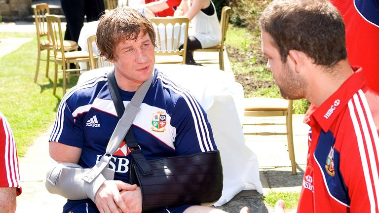 A serious elbow injury suffered in training meant hooker Jerry Flannery never boarded the Lions plane to South Africa in 2009