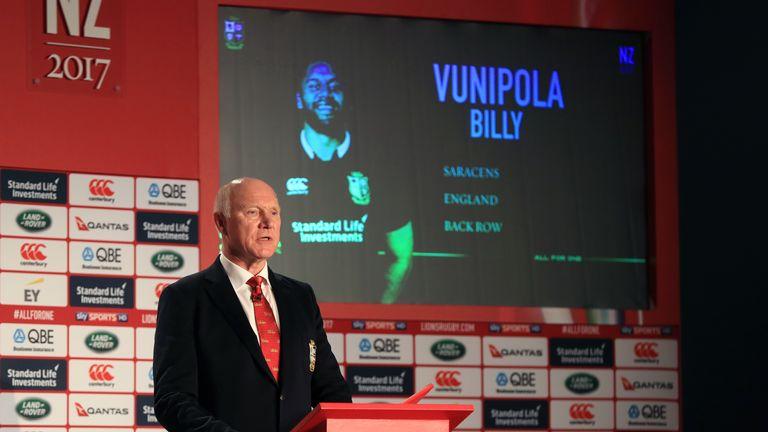 2017 Lions team manager John Spencer announced Billy Vunipola as one of the original 41-man panel