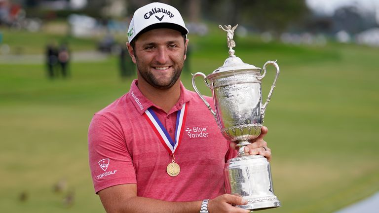 Rahm won his maiden major title at the US Open last month