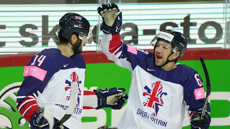 Kirk (left) reflects on an excellent IIHF World Championships and believes the heart the GB team displays sets them apart from other nations