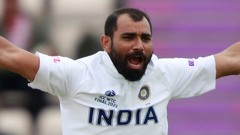 Shami's wickets included Ross Taylor and Colin de Grandhomme