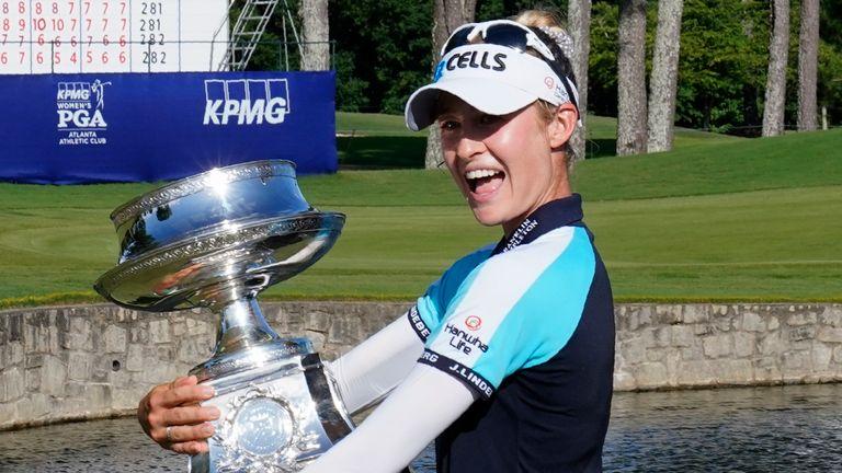 Nelly Korda won the Women's PGA Championship last month