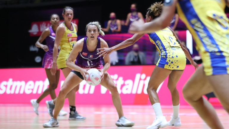 Loughborough Lightning were smart in attack against Team Bath Netball in Round 20 (Image credit - Morgan Harlow)