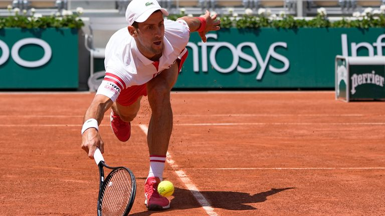 The world No 1 showed his resilience out on court