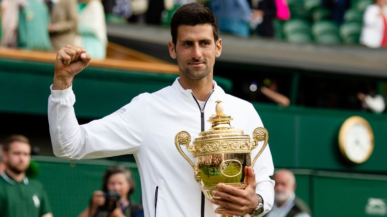 Novak Djokovic is the two-time defending champion chasing a sixth Wimbledon crown and 20th Grand Slam title (Photo by: Frank Molter/picture-alliance/dpa/AP Images)