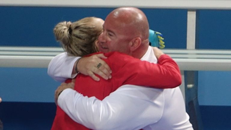 Siobhan-Marie O'Connor and coach Dave McNulty